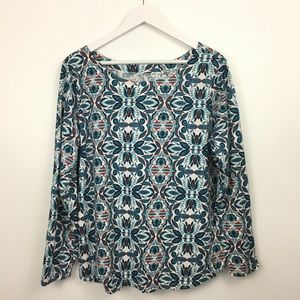 2/$20 St.Johns Bay Floral Print Blouse